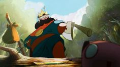 """""""Le Royaume"""" (The king and the Beaver), Student graduating film 2010 at Gobelins, L'école de l'image.  Written, directed and animated by Nuno Alves Rodrigues, Oussama Bouachéria, Julien Chheng, Sébastien Hary, Aymeric Kevin, Ulysse Malassagne & Franck Monier. Music by Mathieu Alvado."""
