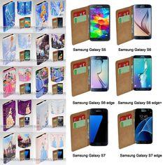 For Samsung Galaxy S6 S7 edge+ S5 - Cinderella Print Wallet Phone Case Cover #UnbrandedGeneric