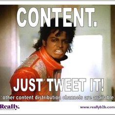 Just tweet it Jacko!