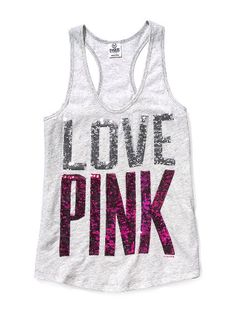 VS PINK Bling Yoga Tank