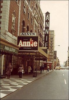 Annie marquee on Broadway