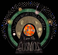 "Justin Gabbard ""every night I tell myself I am the cosmos"" #stars #light"