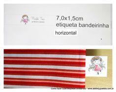 etiqueta horizontal bandeirinha