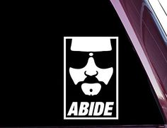 The Dude - Abide - High Quality Precision-cut Vinyl Decal / Sticker -- Check out this great product. (This is an affiliate link) Jeep Decals, Vinyl Decals, Sticker Paper, Bumper Stickers, The Big Lebowski, Window Decals, Prints, Mens Tops, T Shirt