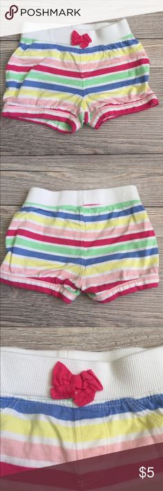 Gymboree Striped Shorts Gymboree Striped Bubble shorts.  Elastic waist.  Like new.   Smoke free/pet free home. Gymboree Bottoms Shorts
