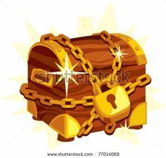 Cartoon Treasure Chest | Treasure box cartoon vector illustration - stock vector