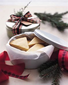 Baking times for each variety of shortbread will vary depending on the kind of baking pan and cutters used.