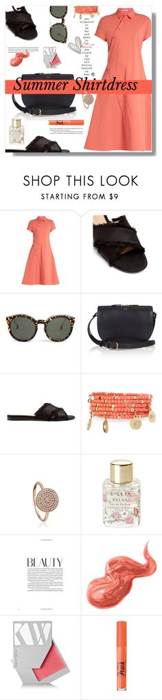 """""""Summer Shirtdress"""" by marialibra ❤ liked on Polyvore featuring Tomas Maier, Gianvito Rossi, Christian Dior, A.P.C., Emily & Ashley, Astley Clarke, Lollia, Bobbi Brown Cosmetics, Kjaer Weis and Too Faced Cosmetics"""