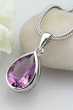 Love silver & pink stone