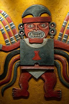Moche Man. An engraving from a Moche city. The Moche were a pre-columbian people that preceeded the Incans on the west coast of south america.