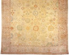 """Oushak & Turkish 19' 8"""" x 16' 4"""" Antique Oushak at Persian Gallery New York - Antique Decorative Carpets & Period Tapestries"""