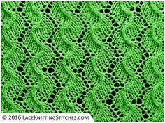 Lace knitting No.29 |  Scroll Lace - Reversible stitch