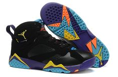 on sale 80303 dae47 Big Boys Shoe Air Jordan 7 Youth Lola Bunny Black Bright Citrus Court  Purple 705417 029