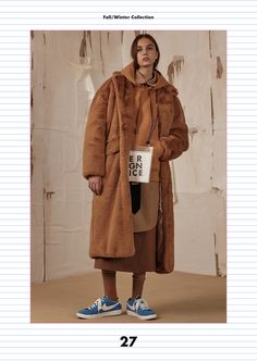 Fall/Winter collection lookbook 'ADER DESIGN OFFICE' #ADER #fashion #collection #lookbook #image #photo #design #office #collage #minimal #simple #contemporary #colorful #pink #grey #green #blue #charcoal #black #copy #normal #fur #knitwear #coat #earring #leather #bag