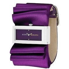The plisse purple-dial satin strap watch is one elegant watch by BCBG. Purple Love, All Things Purple, Shades Of Purple, Deep Purple, Purple Stuff, Plum Purple, Purple Satin, Pink, Purple Ribbon