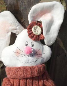 Rustic Bunny Doll by humblehrtdesigns on Etsy, $25.00