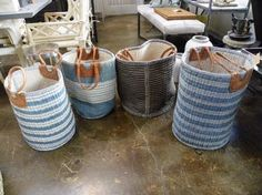 Nest by Tamara: Friday's Why In Design Series: part three - the appeal and history of American baskets wicker and rattan:  photograph Mecox Gardens