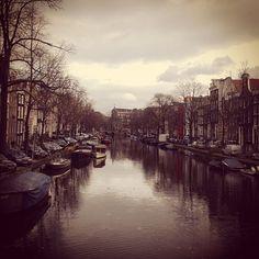 #amsterdam #sopretty #canal #boats #amstel