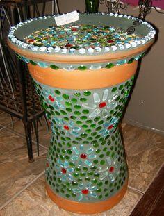 diy bird bath   DIY Mosaic Bird Bath/Feeder Insructions