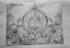 Hand Embroidery Designs, Embroidery Patterns, Hand Painted Sarees, Jewelry Design Drawing, Mehndi Art Designs, Batik Pattern, Pattern Coloring Pages, Indian Folk Art, Madhubani Painting
