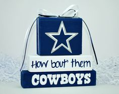 Dallas COWBOYS WoodenBlock shelf sitter stack by WoodenBlock, $12.00