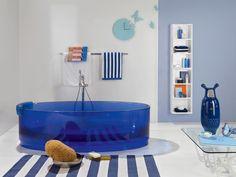 Vasca da bagno centro stanza in resina JOLIE by Regia design Bruna Rapisarda