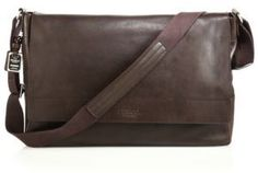 Shinola Leather East-West Messenger Bag