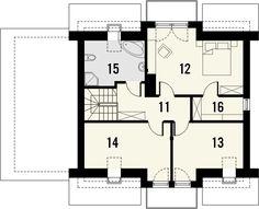 KOLIA - projekt domu z otwartą kuchnią i garażem z jednospadowym dachem. Studio Krajobrazy. House, Nice Houses, Haus, Homes, Houses