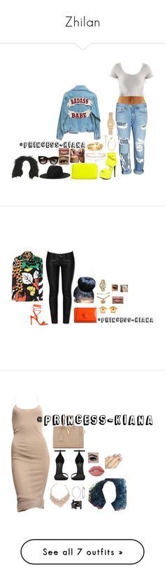 """""""Zhilan"""" by princess-kiana ❤ liked on Polyvore featuring rag & bone/JEAN, Privileged, Monki, House of Harlow 1960, Betsey Johnson, Thierry Lasry, Forever New, House of Lashes, Tripp and Versace"""