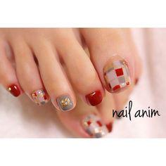 ネイルデザインを探すならネイル数No.1のネイルブック Pedicure Designs, Pedicure Nail Art, Toe Nail Designs, Toe Nail Art, Joy Nails, Beauty Nails, Cute Toe Nails, Pretty Nails, Nail Polish Style