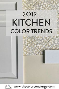 We predict classic white kitchens will continue to be popular. This classic white Wedgewood raised panel door is paired with Julep Tile two-color tile. Paint your kitchen walls BM Manchester Tan and finish your counters with Caesarstone Organic White Quartz for a beautiful white finish. #kitchentrends, #kitchencolors, #kitchenremodel, #kitchenideas, #kitchens, #kitchendecor, #kitchendesign, #kitchencountertops, #kitchenbacksplash, #thecolorconcierge, #colorsmadeeasy