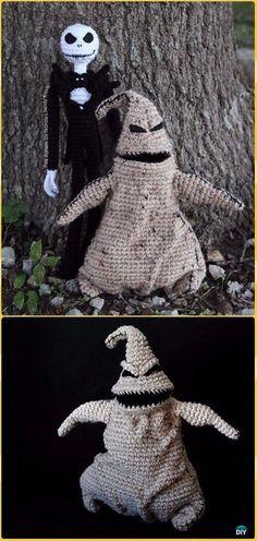 Crochet Oogie Boogie &Jack Skellington Free Pattern -Crochet Halloween Amigurumi Free Patterns