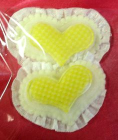 10 ruffled Cute Fabric Padded Heart Applique by vintagejetpatterns, $3.00