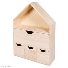 Compra nuestros productos a precios mini Casa de madera para decorar - 28 x 10 x 41 cm - Entrega rápida, gratuita a partir de 89 € !