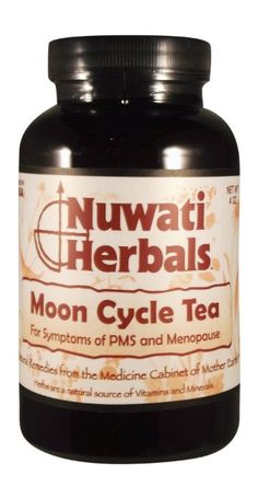 Nuwati Herbals makes this fantastic Moon Cycle Tea--perfect for PMS and menopause issues. All the ingredients are natural, and you can brew it hot or cold, sweet or not.