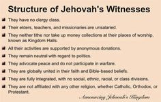 Structure of Jehovah's Witnesses