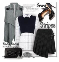 """""""Bow's Make It Better"""" by wanda-india-acosta ❤ liked on Polyvore featuring Duffy, Alice + Olivia, McQ by Alexander McQueen, Lulu Guinness, David Yurman, Marc Jacobs, Kendra Scott and Theory"""