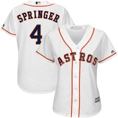 ae5051653 George Springer Houston Astros Majestic Women s Team Cool Base Player  Jersey – White. Lance MccullersCarlos CorreaTeam ...