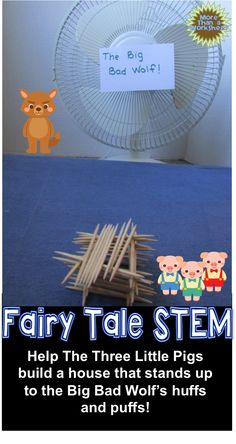 education - Fairy Tale STEM Three Little Pigs Build a Toothpick House Stem Science, Preschool Science, Teaching Science, Science Classroom, Classroom Projects, Life Science, Steam Activities, Science Activities, 3 Little Pigs Activities