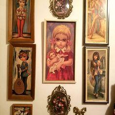 #highfeminine #girly #vintage #bigeyeart Look Into My Eyes, Girly, Feminine, Frame, Painting, Vintage, Instagram, Home Decor, Art