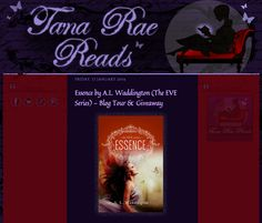 @Tana Rae Reads - My Book Reviews spotlights 'Essence' by A.L. Waddington (The EVE Series).