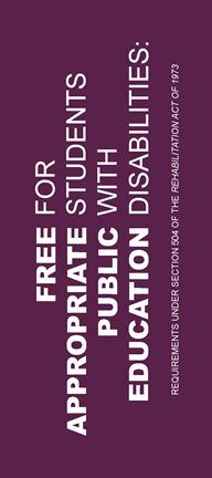 FAPE: Free Appropriate Public Education for Students With Disabilities: Requirements Under Section 504 of The Rehabilitation Act of 1973 School Tool, School Stuff, Sensory Issues, School Psychology, Dyslexia, School Counseling, Cover Pages, Special Needs, Civil Rights