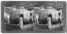 The biggest teapot [sic] on earth, holding a million cups - Pure Food Exhibit, Jamestown, Va. Stereograph, ca 1907. Stereograph Cards Collection, Library of Congress Prints and Photographs Division.