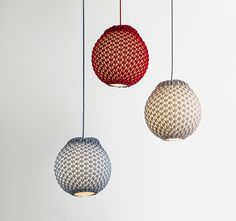 knitted lighting fixtures made from 3D patterned textiles - designboom | architecture