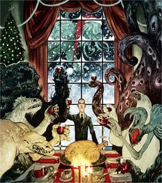 XMAS WITH LOVECRAFT AND FRIENDS by Nelson Evergreen