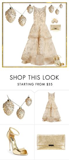 """""""Hanging Ornaments"""" by gemique ❤ liked on Polyvore featuring Oscar de la Renta, Dolce&Gabbana, Loeffler Randall and Loushelou"""