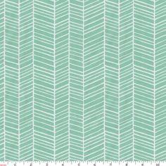 Mint Herringbone Fabric by the Yard | Carousel Designs