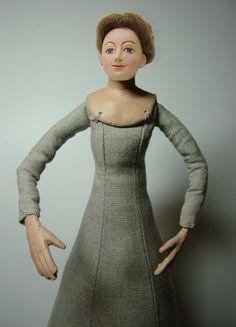Tudor Woman Doll Kit  Brown Hair by TheTudorTailor on Etsy, £45.00