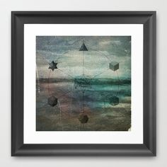 Platonic Solids Framed Art Print by Frederic Bartl - $37.00