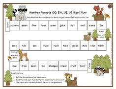 Your students will have a great time helping Matthew Raccoon read the words to get back to his home. Students roll the dice and read the word to hi...